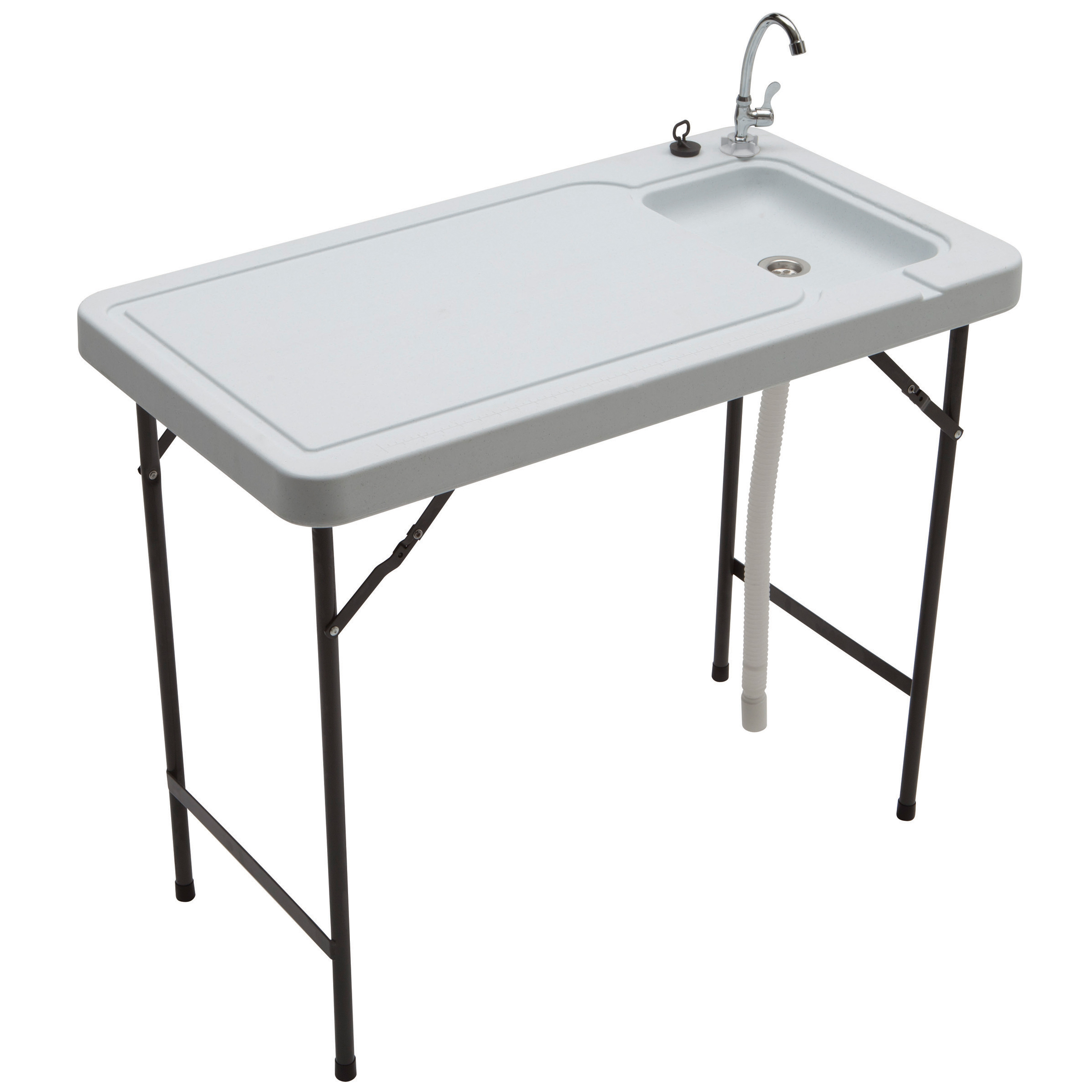 Stainless Steel Fish Cleaning Table With Sink Modern